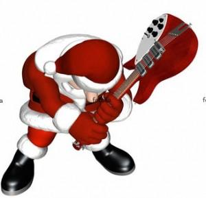 Santa Claus rocking